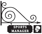 Office sports manager in boxing