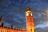 Big Ben, Queen Elizabeth Tower at night
