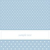 Sweet, blue dots card or invitation with white polka dots.