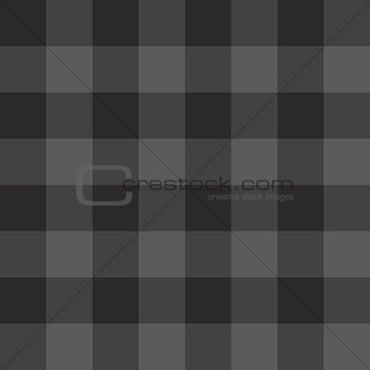 Tile dark grey and black plaid vector pattern