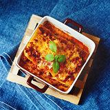 Italian Food. Lasagna plate.
