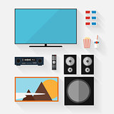 Vector video equipment icon set