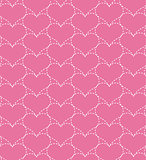 Pink seamless pattern with hearts.Vector illustration