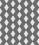 Seamless hexagons and diamonds pattern.