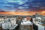 Sunset Over Portland Oregon Cityscape