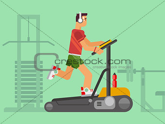 Athlete Running on a Treadmill