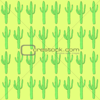 Sketch desert cactus in vintage style