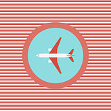 Airplane color flat icon