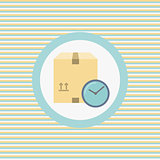 Delivery period color flat icon