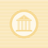 Bank color flat icon