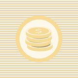 Coins color flat icon