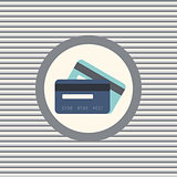 Credit cards color flat icon
