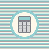 Calculator color flat icon