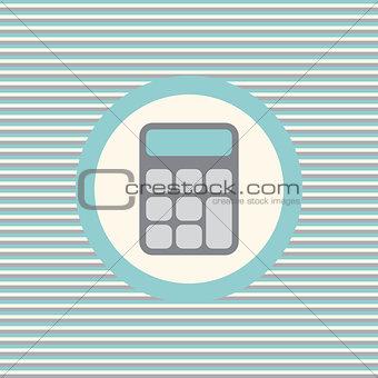 Calculator color flat icon