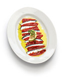 marinated anchovy and paprika