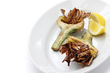 deep fried artichoke, carciofi alla giudia