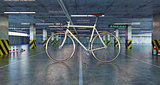 bicycle in parking