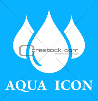 blue icon with three droplet
