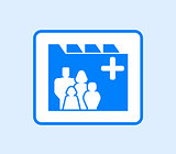 medical record icon with family