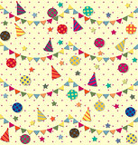 Happy Birthday. Vector seamless pattern.