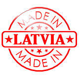 Made in Latvia red seal