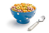 colorful cereal rings in bowl