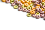 colorful cereal rings