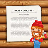 Timber Industry Background with Lumberjack