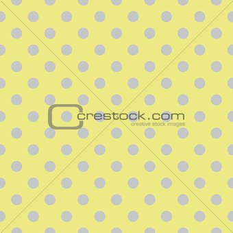 Tile vector pattern with grey blue polka dots on green background