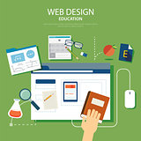 education website development project design concept