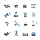 Media and News Icons Set