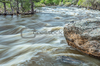 Poudre River at spring run off