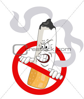 Cartoons No Smoking Sign