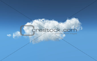 3D feathery white cloud