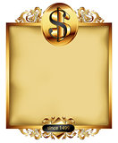 ornate frame with dollar symbol