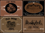 set of wine labels