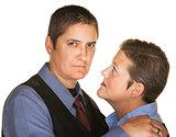 Serious Gay Couple