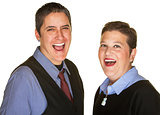 Hysterical Couple Laughing
