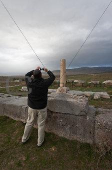 Tourist Photographing Column