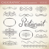 calligraphic design elements to embellish your layout