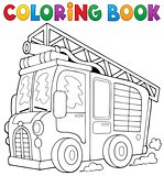 Coloring book fire truck theme 1