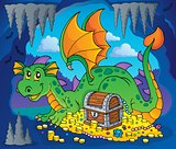 Dragon with treasure theme image 3
