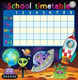 School timetable space fantasy theme