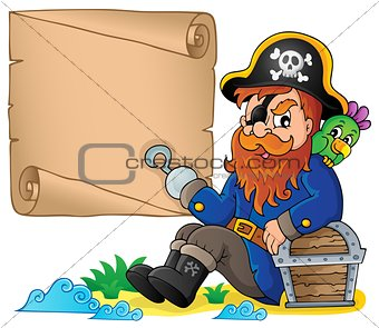 Sitting pirate theme image 6
