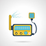 Radio transceiver flat vector icon