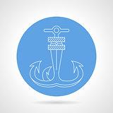 Anchor round vector icon