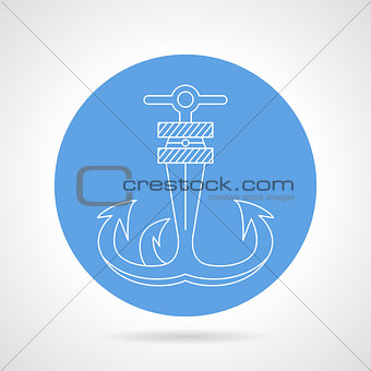 Anchor round vector icon