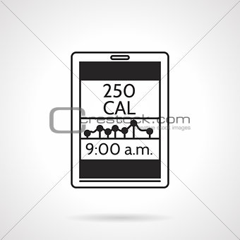 Calorie counter black vector icon