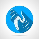 Eel flat round vector icon