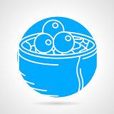 Maki sushi round vector icon